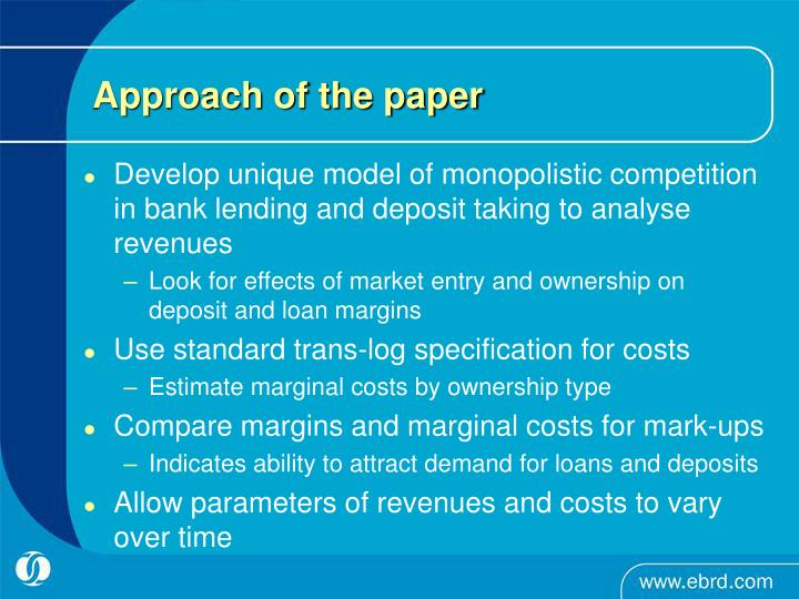 Approach of the paper