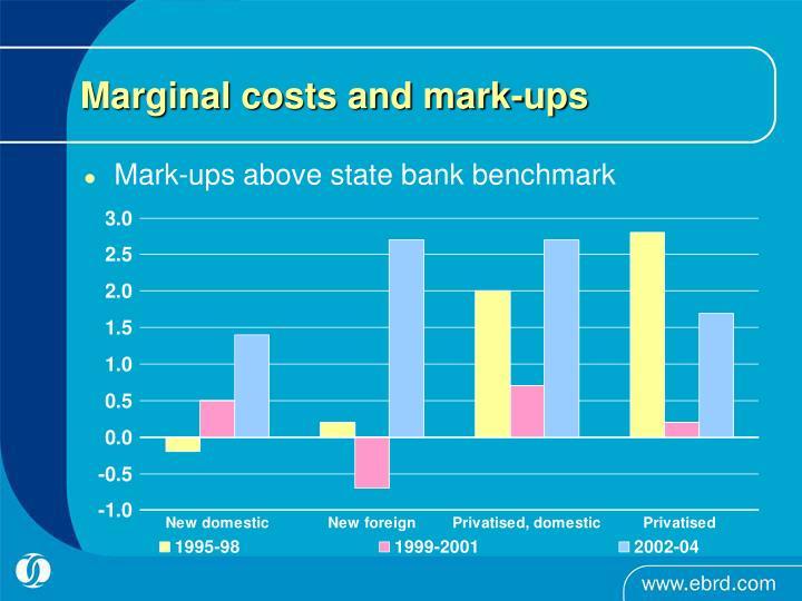 Marginal costs and mark-ups