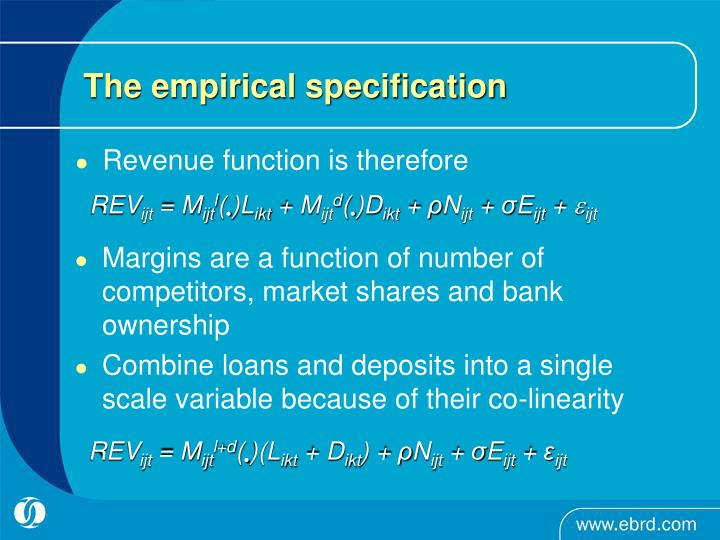 The empirical specification