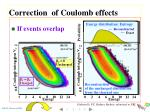 correction of coulomb effects