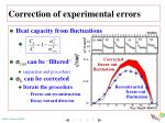 correction of experimental errors1