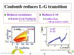 coulomb reduces l g transition
