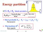 energy partition
