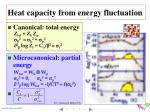 heat capacity from energy fluctuation1