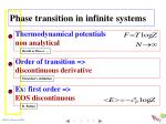 phase transition in infinite systems2