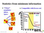 statistics from minimum information1