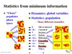 statistics from minimum information3