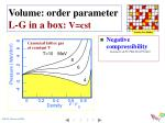 volume order parameter l g in a box v cst