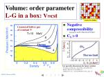 volume order parameter l g in a box v cst1