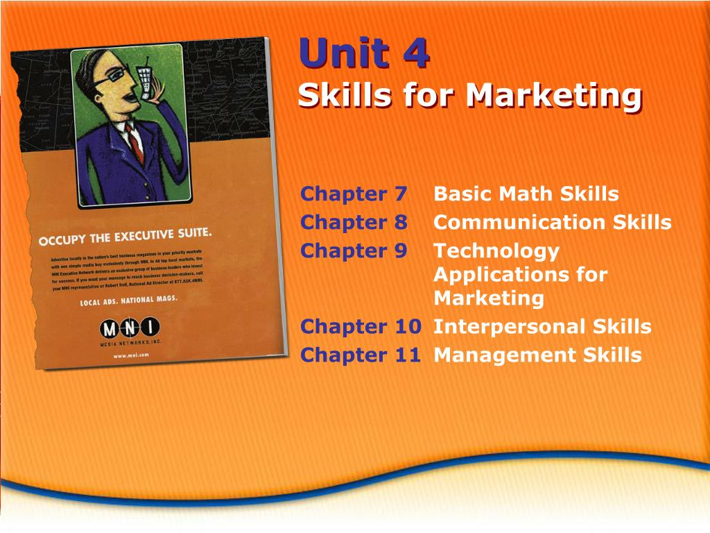 Ppt Unit 4 Skills For Marketing Powerpoint Presentation Id 5604393
