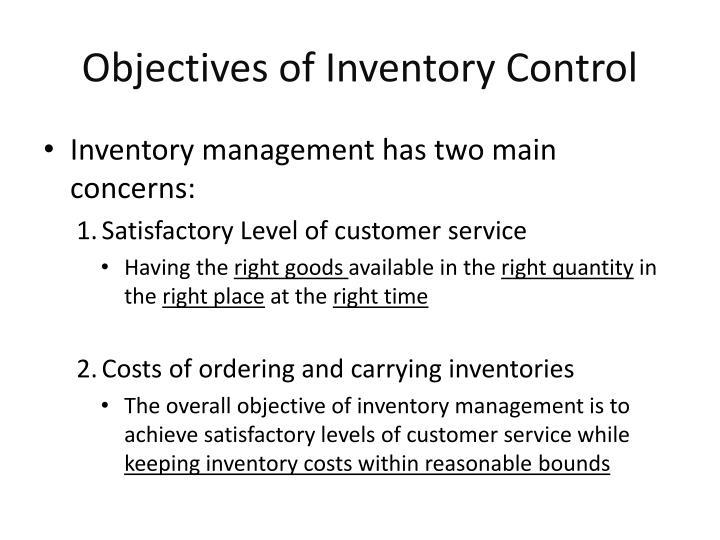 objectives and benefits of inventory management Objectives of supply chain management 1 objectives to supply chain management presented by, abey thachil (r#111 blesson joseph thomas denny j ottarackal jibin babu 1.