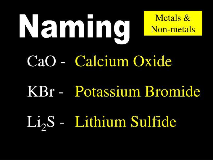 Metals & Non-metals