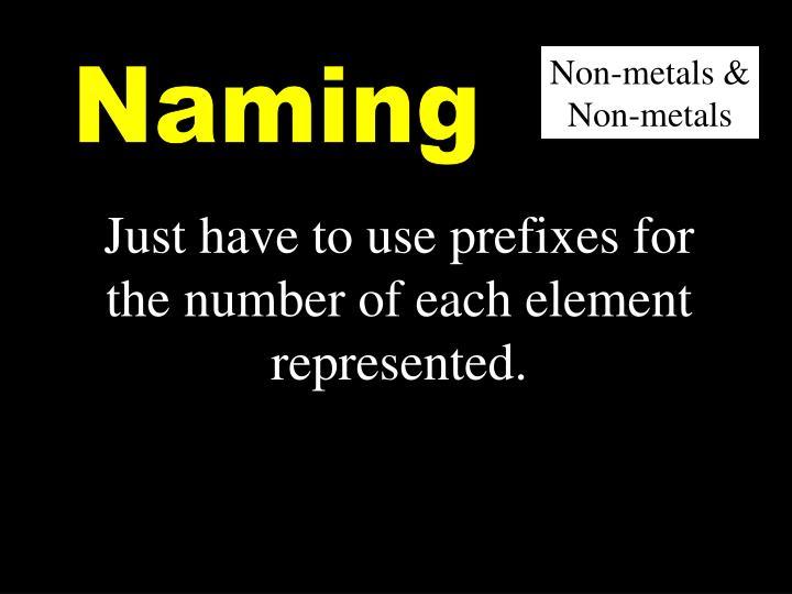 Non-metals & Non-metals