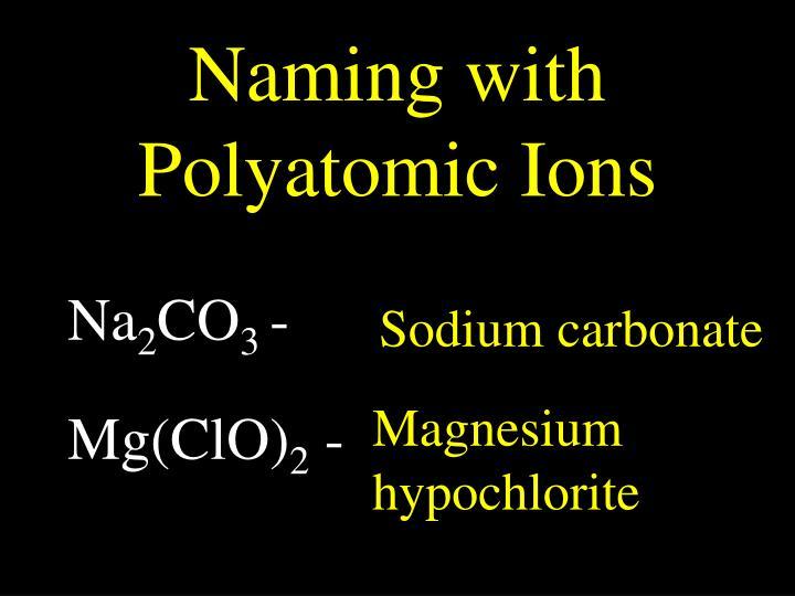 Naming with Polyatomic Ions