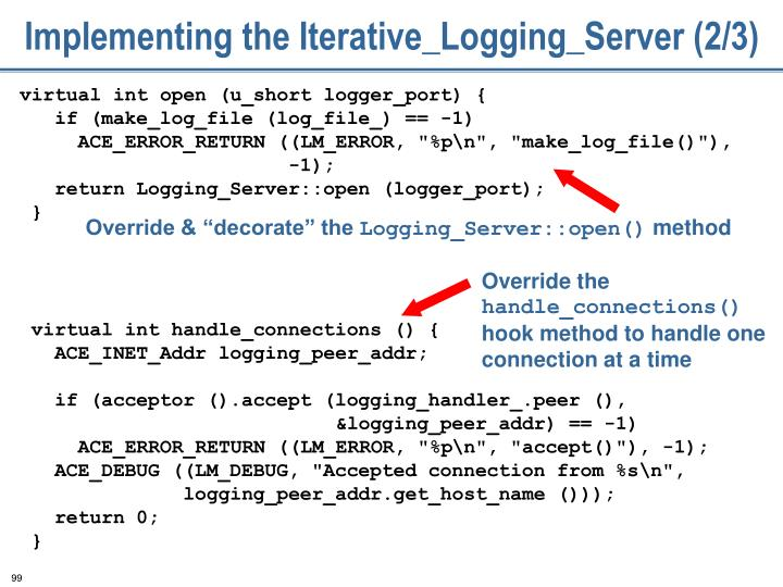 Implementing the Iterative_Logging_Server (2/3)