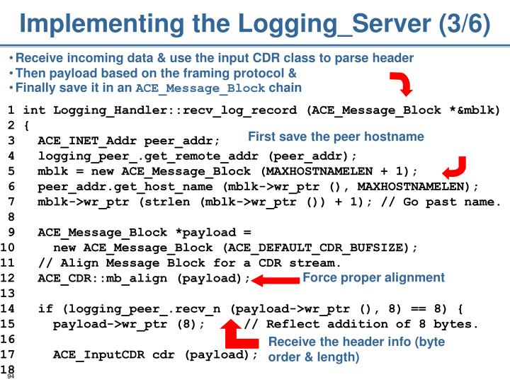 Implementing the Logging_Server (3/6)