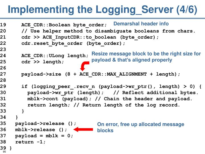 Implementing the Logging_Server (4/6)