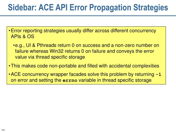 Sidebar: ACE API Error Propagation Strategies
