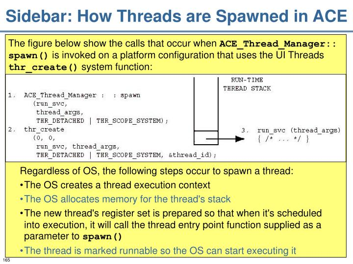 Sidebar: How Threads are Spawned in ACE