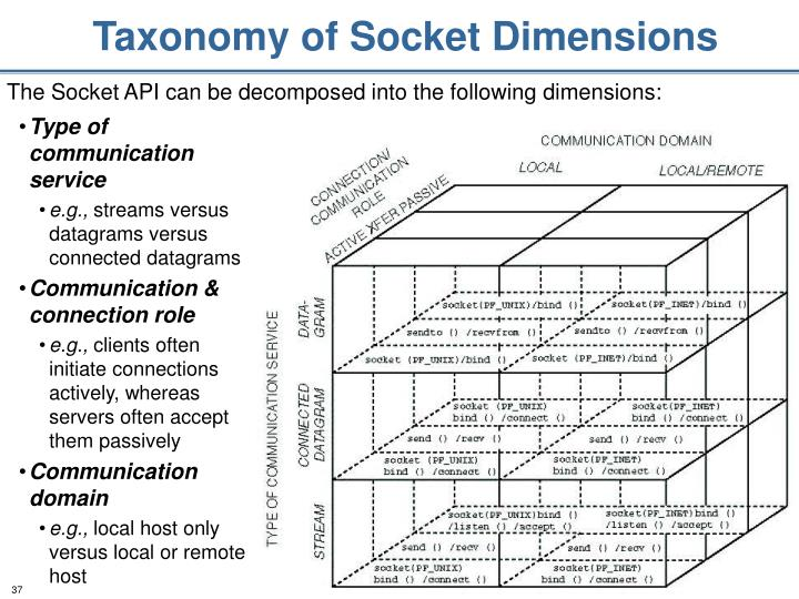 Taxonomy of Socket Dimensions