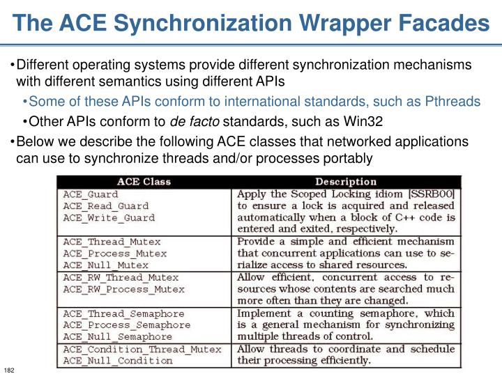 The ACE Synchronization Wrapper Facades