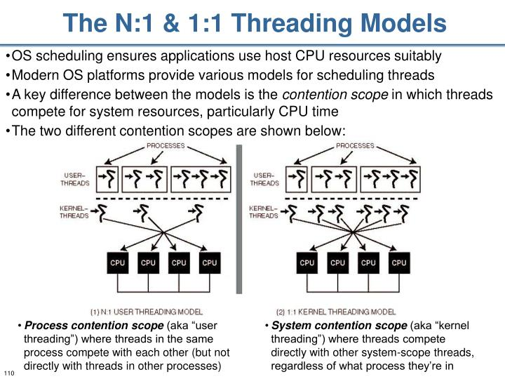 The N:1 & 1:1 Threading Models