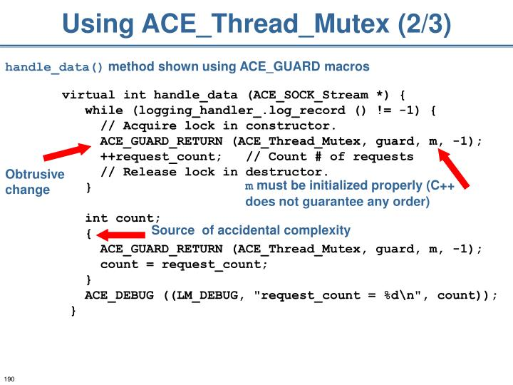 Using ACE_Thread_Mutex (2/3)