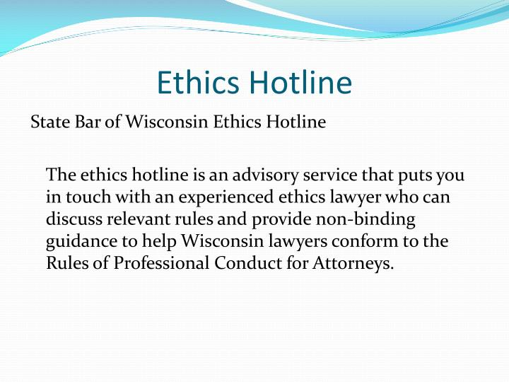 Ethics Hotline