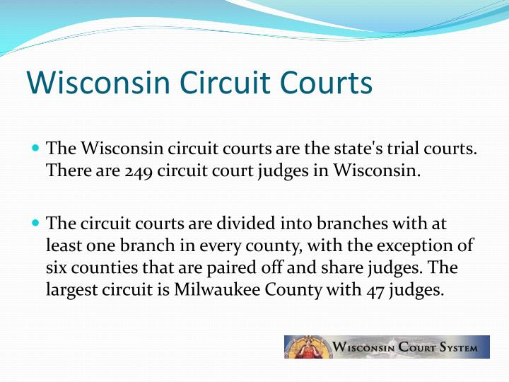 Wisconsin circuit courts