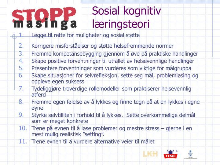 Sosial kognitiv læringsteori