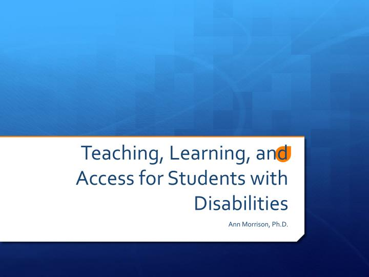 teaching learning and access for students with disabilities n.