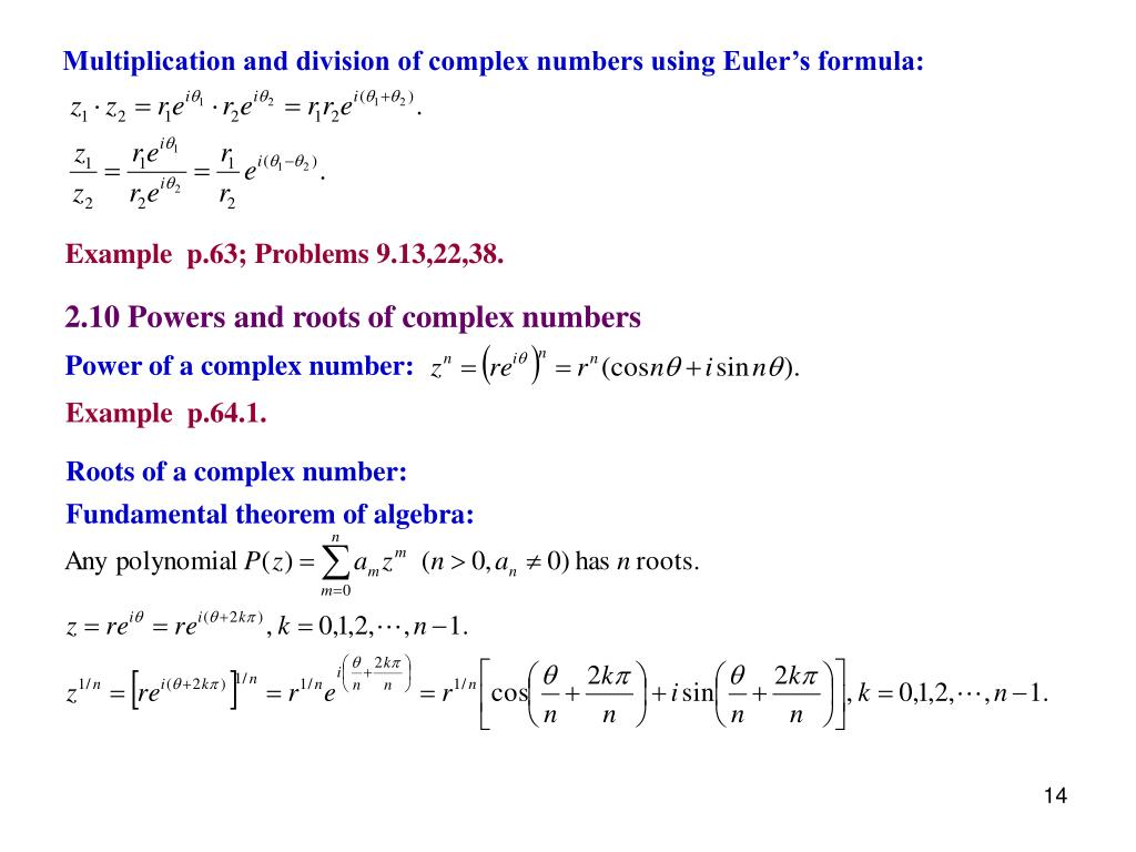 PPT - February 5 Complex numbers 2 1 Introduction 2 2 Real