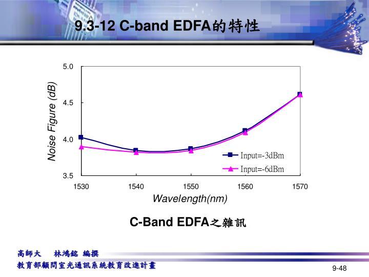 9.3-12 C-band EDFA