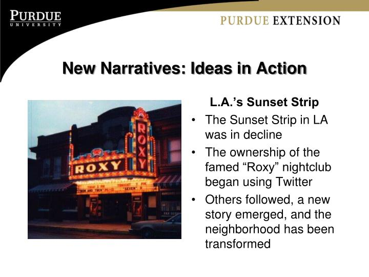 New Narratives: Ideas in Action