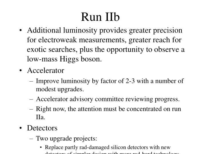 Run IIb