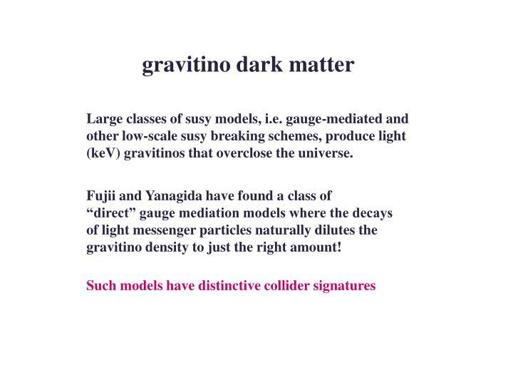 gravitino dark matter