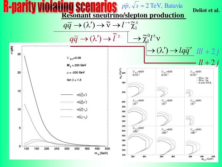 R-parity violating scenarios