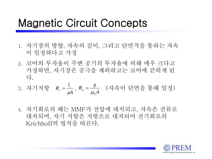 Magnetic Circuit Concepts
