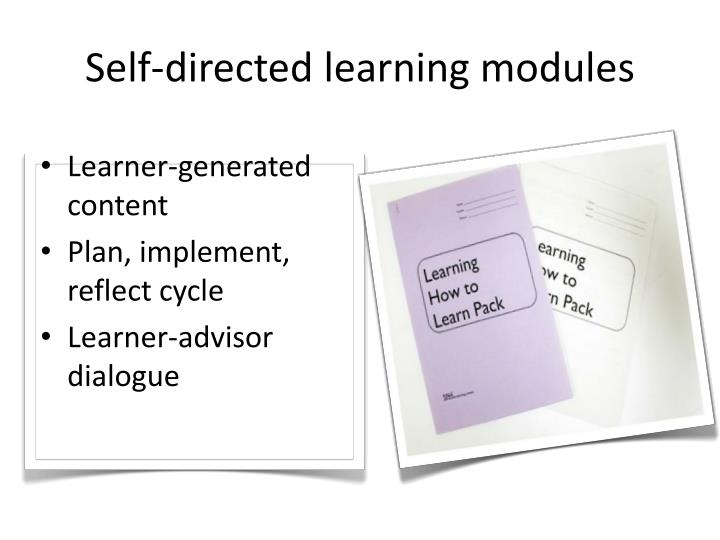 Self-directed learning modules
