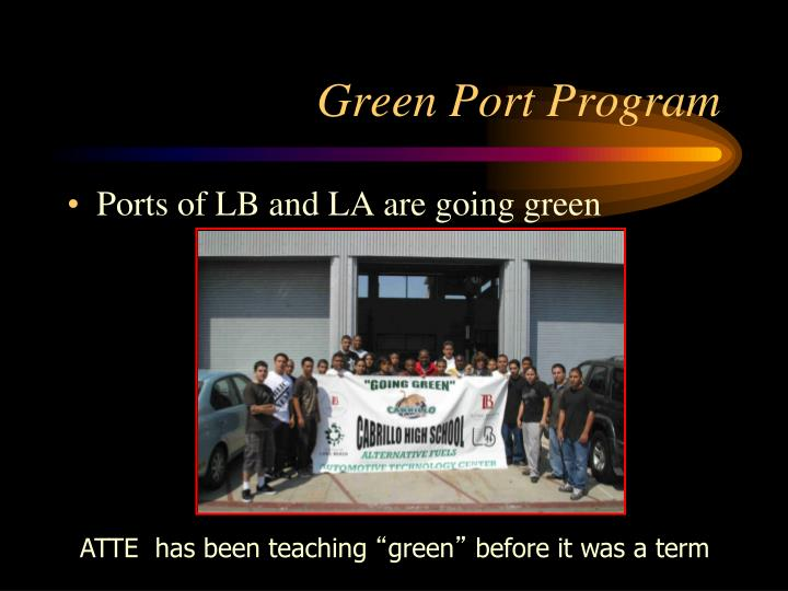 Green port program