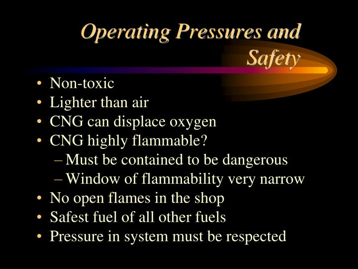 Operating Pressures and Safety