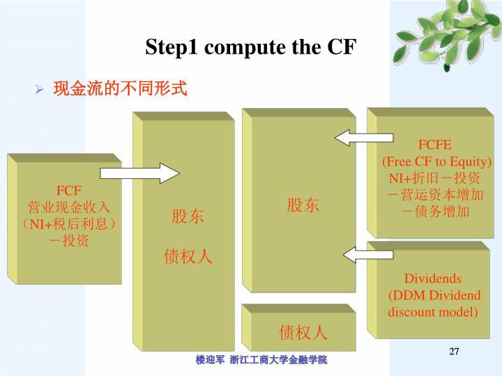 Step1 compute the CF