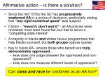 affirmative action is there a solution