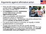 arguments against affirmative action