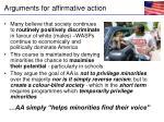 arguments for affirmative action