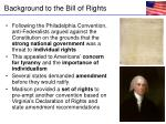background to the bill of rights