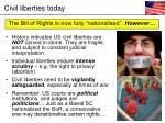 civil liberties today