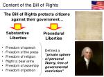content of the bill of rights