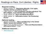 readings on race civil liberties rights