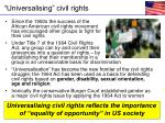 universalising civil rights